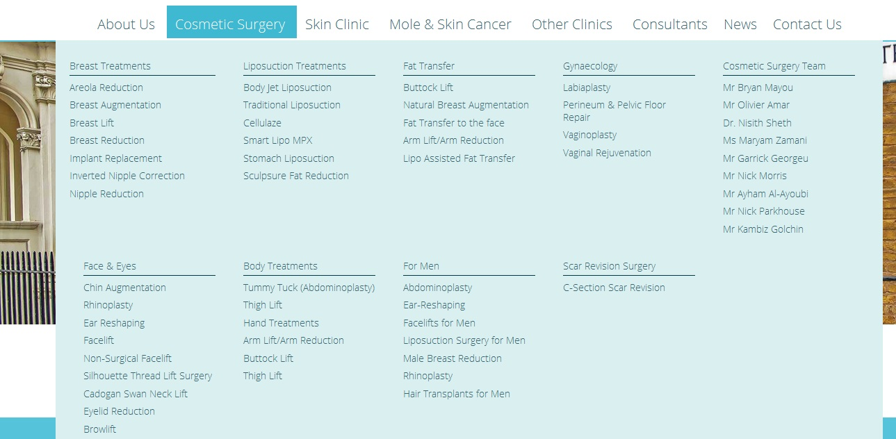 cadogan clinic pages