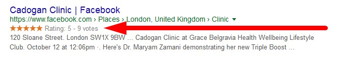 cadogan clinic facebook reviews